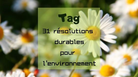 31 bonnes résolutions durables