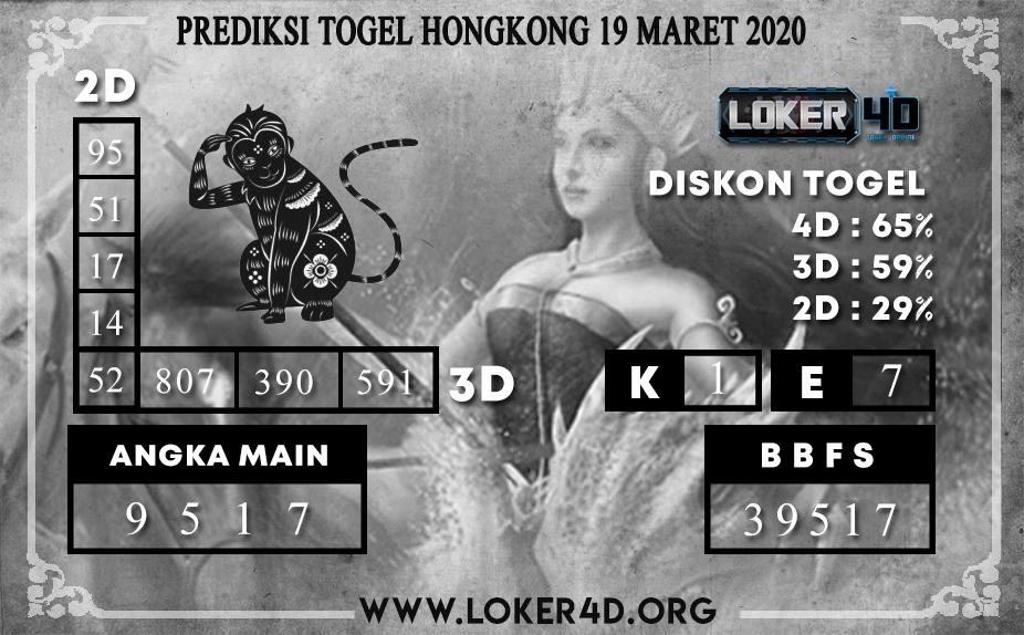 PREDIKSI TOGEL HONGKONG LOKER4D 19 MARET 2020