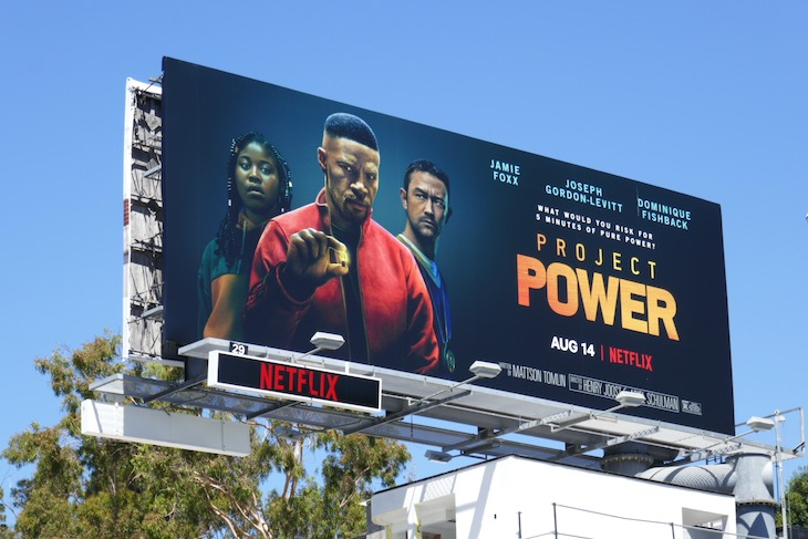 Project Power Netflix movie billboard