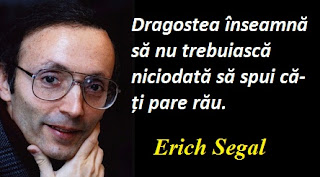 Citatul zilei: 16 iunie - Erich Segal