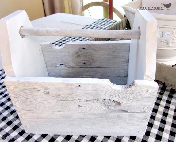 whitewashed utensil holder