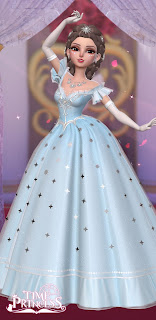 Siss in a glittering silver ballgown