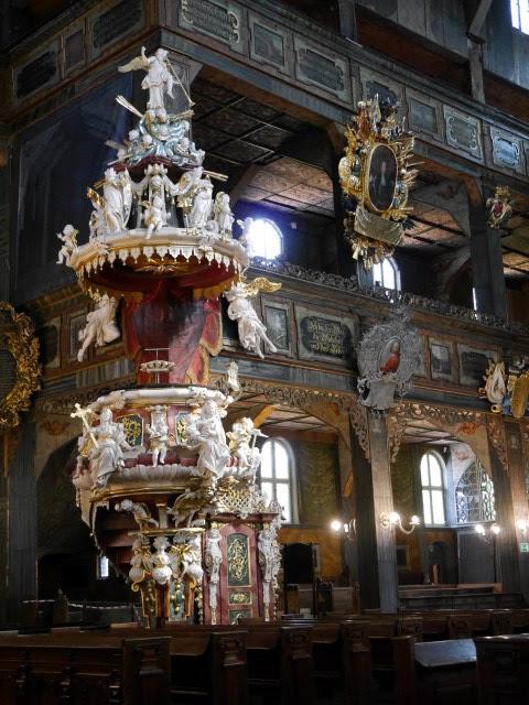 Preekstoel Vakwerkkerk Vredeskerk Swidnica Polen