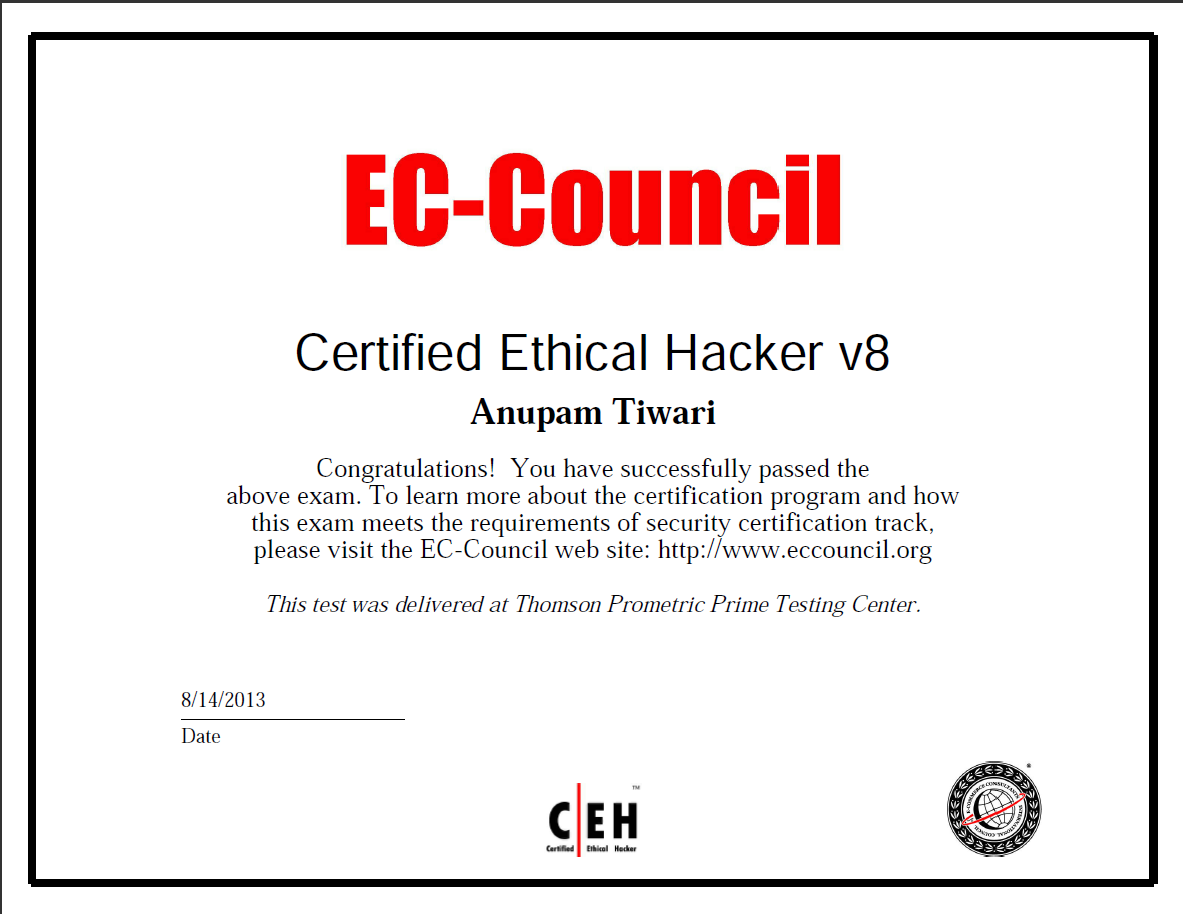 Meliorate Being Ceh Certified Ethical Hacker V8