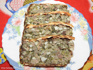 Drob de Paște reteta traditionala de casa gatit in prapure cu carne grasime organe maruntaie de miel ceapa verde marar patrunjel copt cuptor retete mancare aperitive Paști,