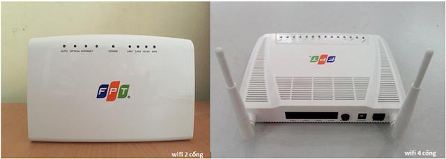kiểu modem wifi fpt