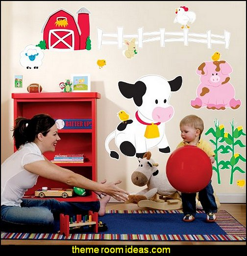 Farm Animal Room Decor - Giant Wall Decals