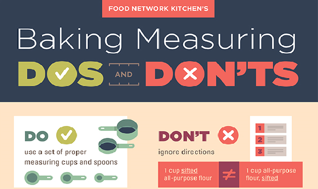 Baking Measuring Do's and Don'ts #infographic