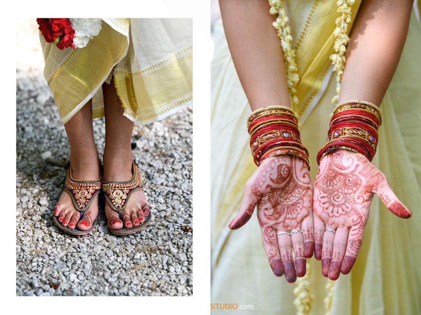 Palm Mehendi Henna Indian Wedding Kerala South Asian SudeepStudio.com Ann Arbor Indian Wedding Photographer