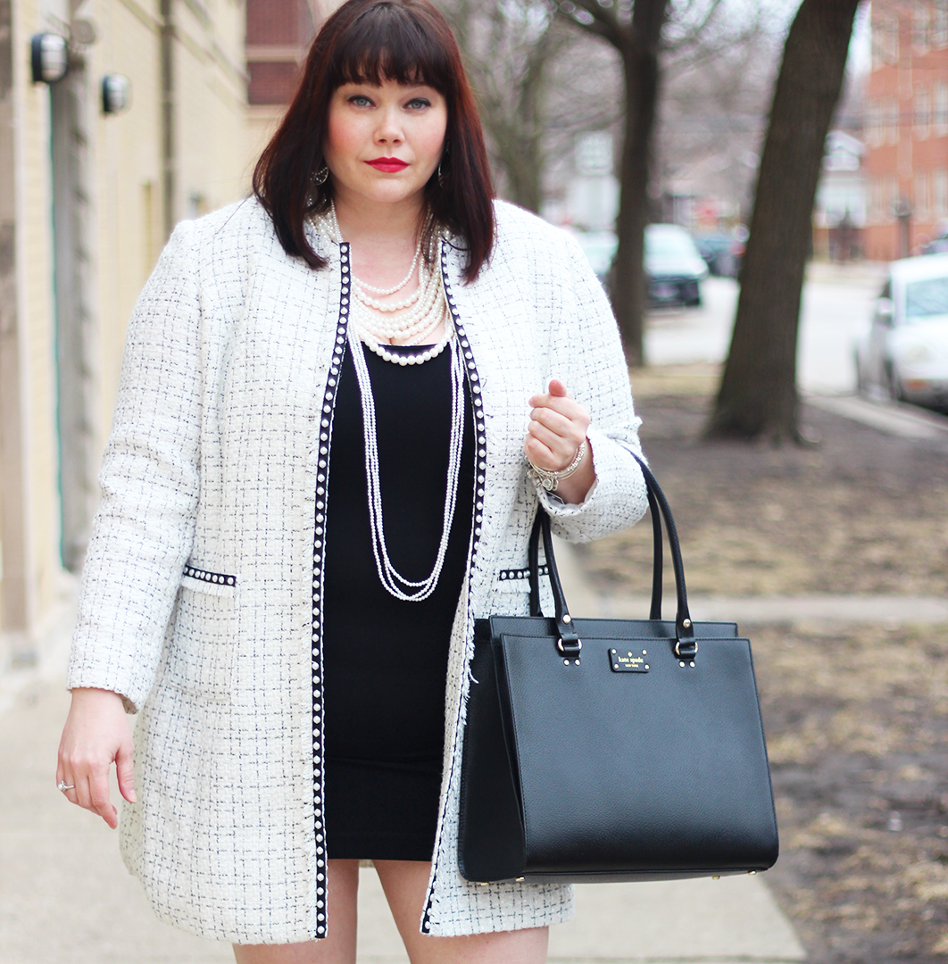 Scream Queens Inspo: Plus Size Chanel Coat Look