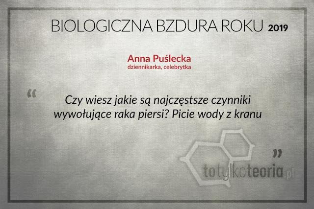 Anna Puślecka Biologiczna Bzdura Roku