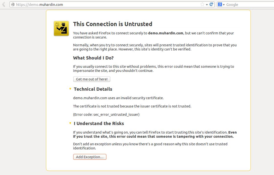 Cara Membuat Sertifikat SSL (HTTPS) di Ubuntu Server