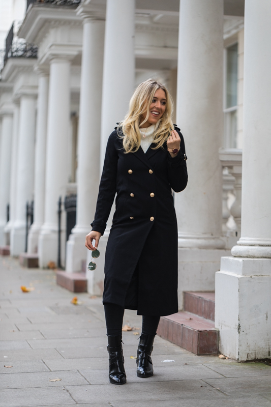 missguided black and gold coat