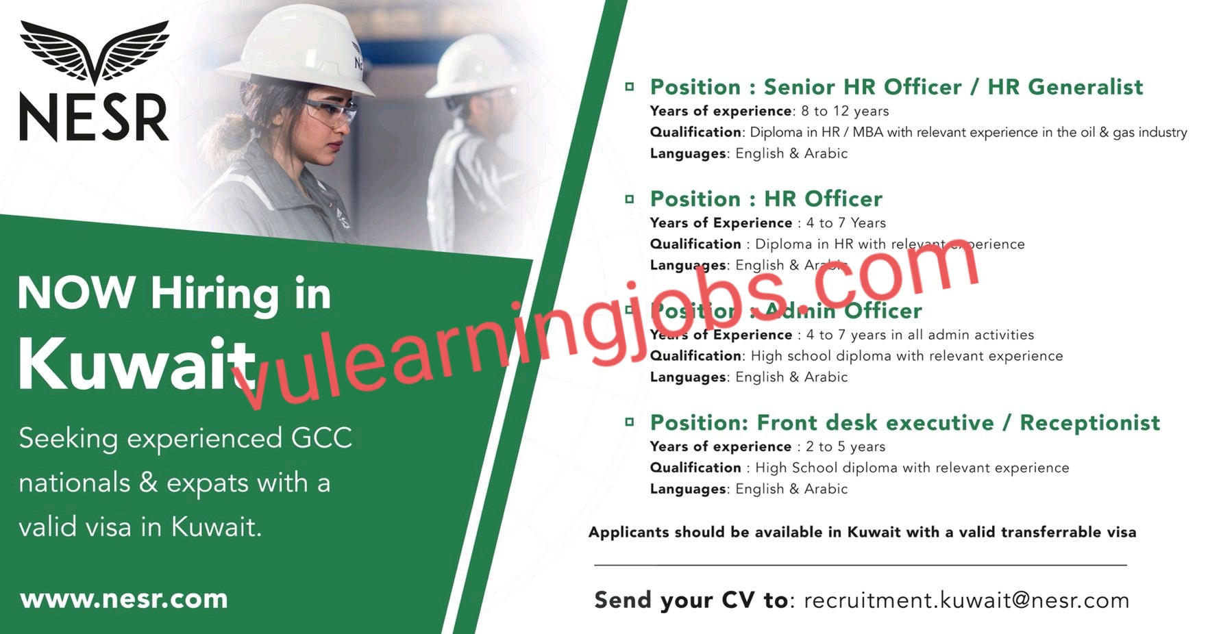 National Energy Services Reunited Corp (Nesr) Jobs In Kuwait May 2021 Latest | Apply Now