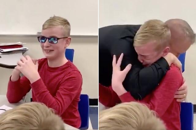 (Видео) 12-летний школьник утирал хлынувшие слёзы рукавом, когда впервые увидел мир в ярких красках