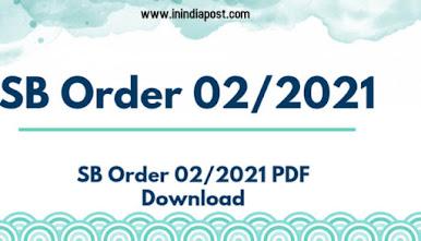 Post office SB Order 02/2021 download pdf file