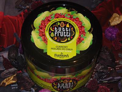 Soczyście owocowy peeling cukrowy, Farmona Gruszka & Żurawina