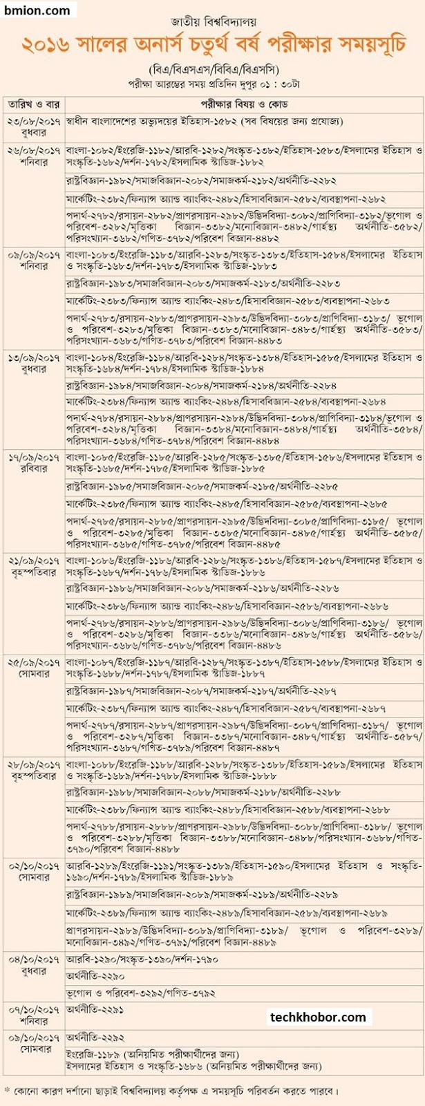 National-University-Honors-4th-Year-Exam-2016-Routine-Honors-Final-Routine