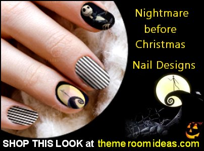 Nightmare Night Before Christmas Waterslide Nail Decal Nightmare Night Before Christmas Nail Art