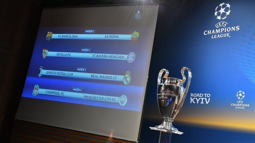 2017 2018 Champions League Quarter Final Draw And Dates Be My