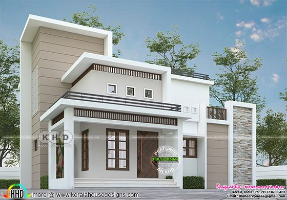 Flat roof style contemporary home