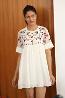 Lavanya Tripathi in Summer Style Spicy Short White Dress at her Interview  Exclusive 246.JPG