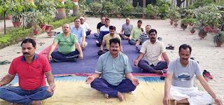 अगस्त क्रान्ति उद्यान में 5 दिवसीय योग शिविर शुरू | #NayaSaberaNetwork