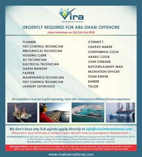 Offshore jobs for Abu Dhabi