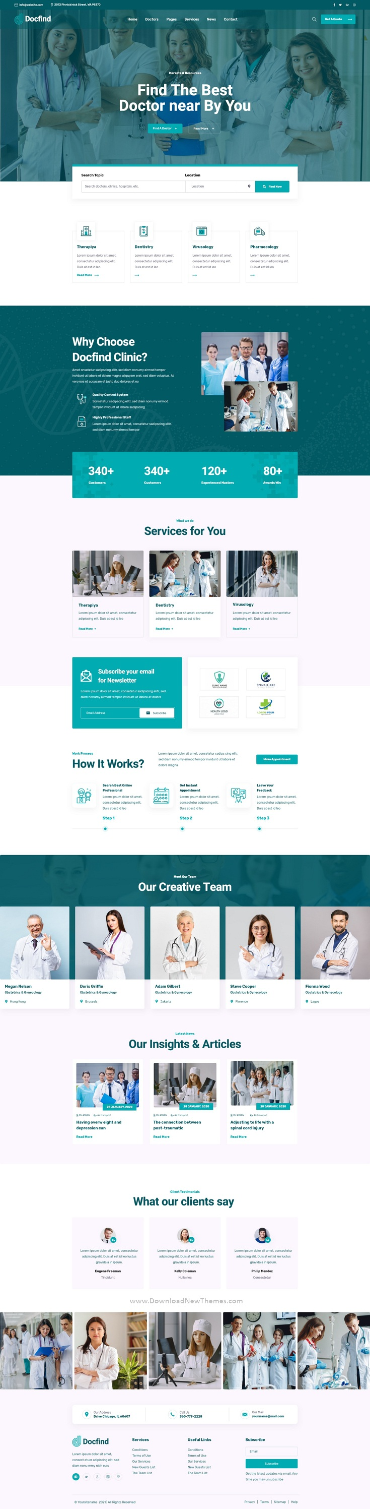 Doctors directory and Book Online XD Template