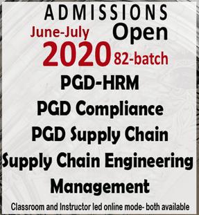 BIHRM Admission 2020 circular