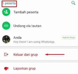 Cara Menghapus Grup WA