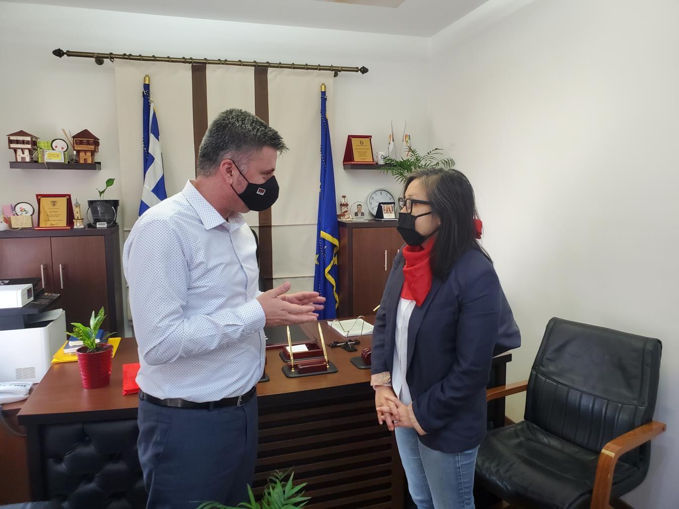 Στον Δήμο Μύκης η Γενική Πρόξενος των ΗΠΑ στη Θεσσαλονίκη