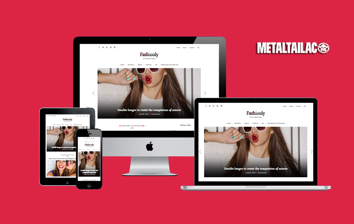 Fashiononly Responsive Blogger Template