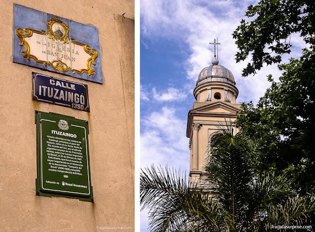 Montevidéu: Calle Ituzaingó e Catedral