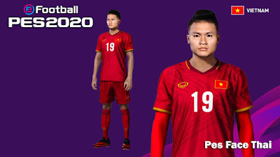 PES 2020 Faces Nguyen Quang Hai by PESFaceThai