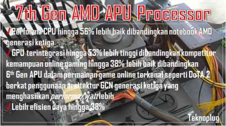 prosesor AMD APU 7th Gen dalam laptop ASUS Terbaru