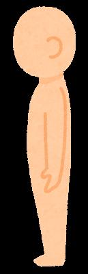 無地の人体のイラスト(デフォルメ・側面)
