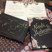 Undangan nikah Vintage Hardcover Hotprint