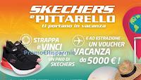 Logo Skechers e Pittarello ti portano in vacanza: vinci 100 voucher scarpe Skechers e viaggio da 5.000€