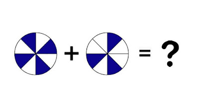 Figure: What fraction do the blue segments make up?