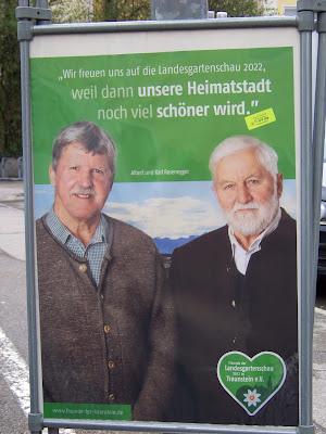 Albert und Karl Rosenegger zur Landesgartenschau Traunstein