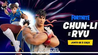 Itens da parceria entre Fortnite e Street Fighter são revelados