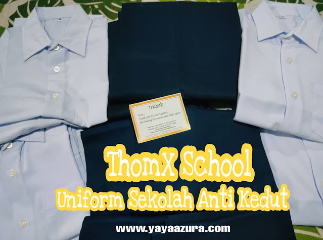 Review baju sekolah ThomX School