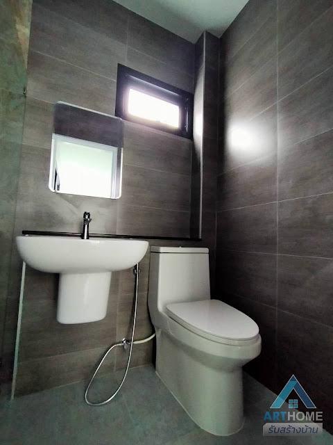 แบบห้องน้ำโทนสีดำ