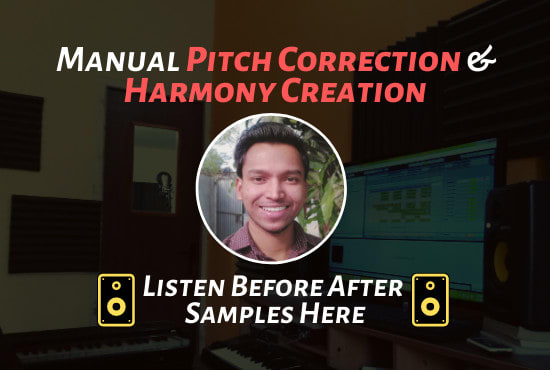 Vocal tuning or pitch correction and create harmony in melodyne - Vocal Tuning - Voice recording actor