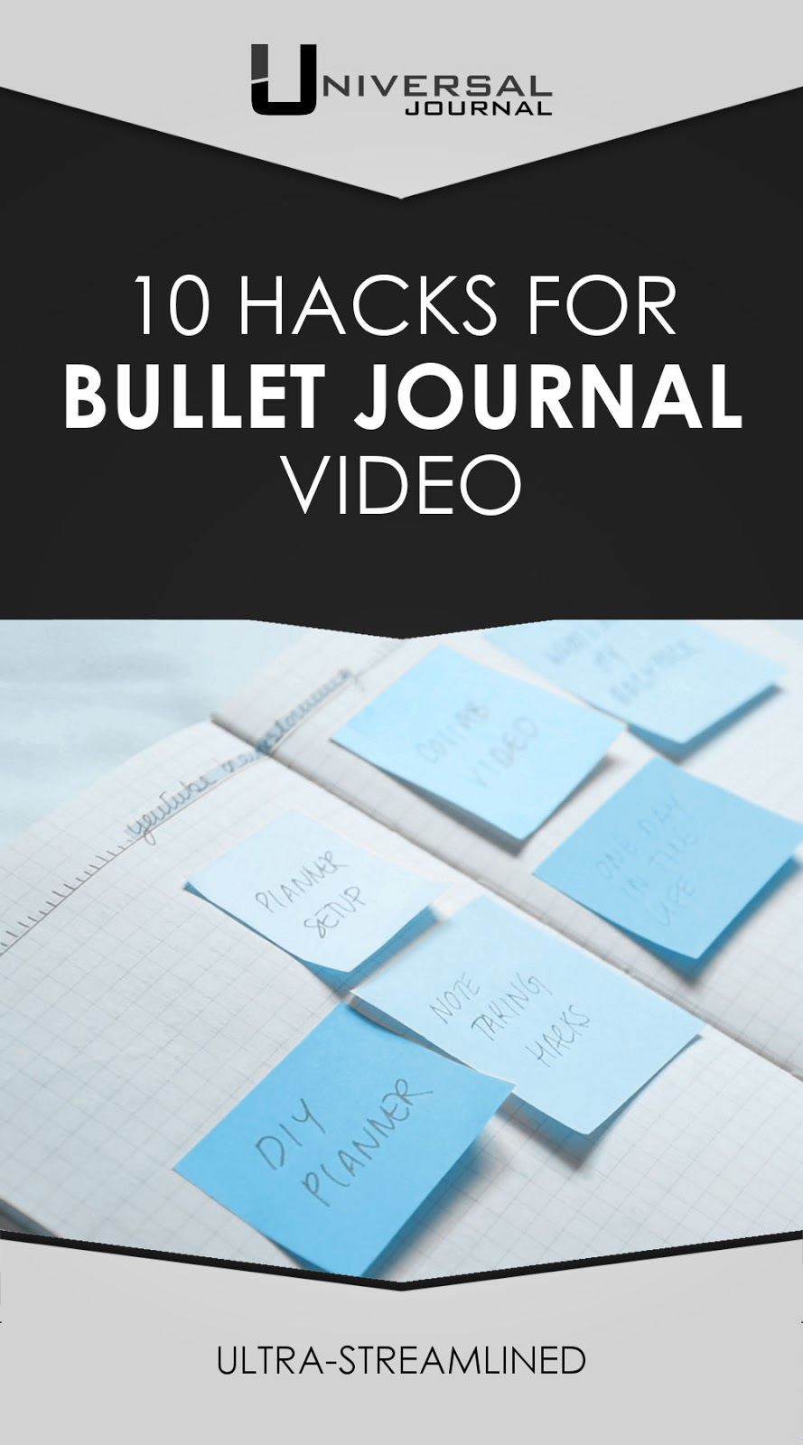 bullet journal 10 notebook hacks video
