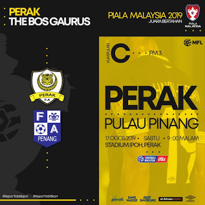 Perak vs Pulau Pinang Live Streaming Piala Malaysia 17.8.2019