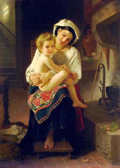 Адольф Вильям Бугро - Молодая мать, любующаяся ребенком (1871)