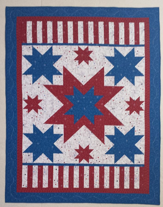 Ray's All American Stars and Stripes Quilt designed by Lisa Sutherland of Quilt Jubilee