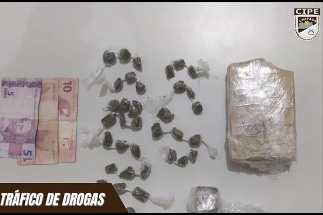 Dois homens são conduzidos à delegacia por suspeita de tráfico de drogas em Itaetê